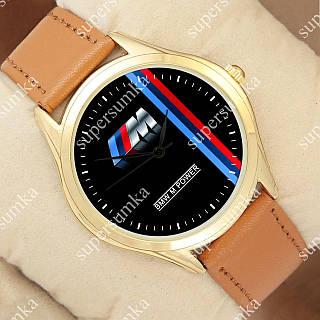 Модные наручные часы Украина BMW M Power m Gold/Brown 1053-0110