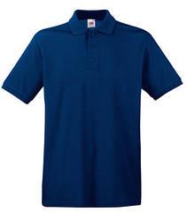Мужская футболка поло темно синяя 218-32
