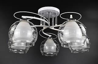 Люстра потолочная на 5 лампочек 7343B/5-wh Белый 27х57х57 см.