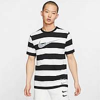Футболка Nike Swoosh Stripe Wht/Blk - Оригинал, фото 1