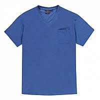 Футболка Pierre Cardin Plus Size V Neck Blue - Оригинал, фото 1