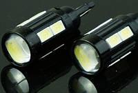 Светодиодная лампочка с линзой t10 w5w 10smd 5630
