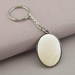 Брелок из натурального камня Перламутр