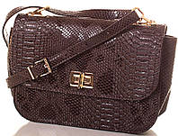 Таинственная женская сумка из экокожи Europe Mob, EM0039-16, коричневая