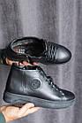 Мужские ботинки кожаные зимние черные Zangak 162 чл+чп, фото 2