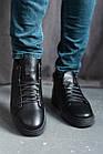 Мужские ботинки кожаные зимние черные Zangak 162 чл+чп, фото 3