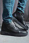 Мужские ботинки кожаные зимние черные Zangak 162 чл+чп, фото 5