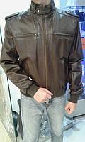 Коричневая кожаная куртка