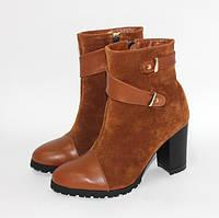Стильные ботинки из натуральной замши и натуральной кожи, разные цвета