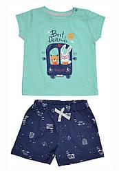 Комплект футболка, шорты с накатом