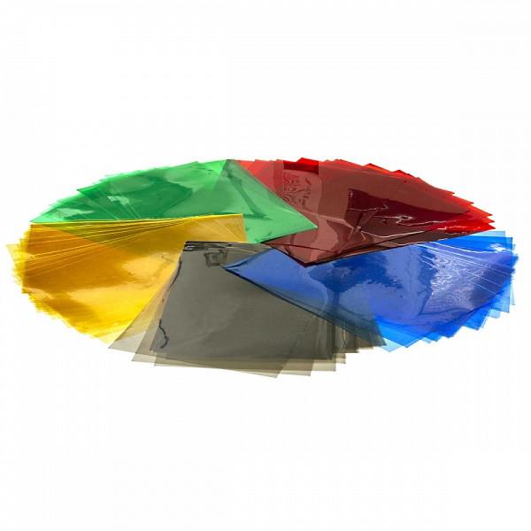 Обложки пластиковые А4 прозрачные Agent 180мк уп/100шт ассорти, 1510486