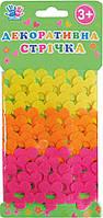 Ленточка декоративная цветочки, войлок, 2.74м, 3шт/уп