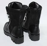 Женские ботинки со шнурками на тракторной подошве, натуральная кожа и замш, фото 2