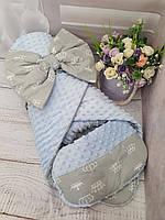 """Конверт для новорождённых """" голубая корона"""", фото 1"""
