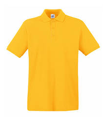 Мужская футболка поло желтая 218-34