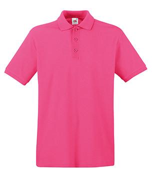 Мужская футболка поло малиновая 218-57