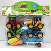 Дитячий набір машинок 230-42 4 трактори 12см