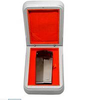 Зажигалка для сигар 70889D металл, газ/пьезо, тройн. пламя, оружейный, пирсер