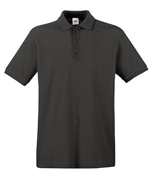Мужская футболка поло темно серая 218-GL