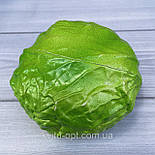 Штучна зелена капуста, муляж 12 см, фото 2