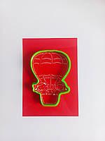 Трафарет для пряников и тортов + формочка Дети на воздушном шаре