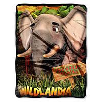 Детский плюшевый плед Wildlandia 117 х 152 см