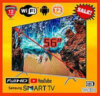 Телевизор Samsung 56 дюймов Smart TV T2 UHD 4K Android WiFi Телевизор Самсунг 56 дюймов Смарт ТВ Телевізор