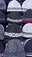 Шапки мужские, зима двойная вязка (56-59 см) купить оптом от склада 7 км Одесса, фото 1