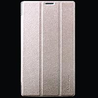 Кожаный чехол-книжка для планшетов Lenovo A7600 TTX Elegant Series Золотой