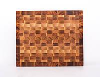 Кухонная торцевая разделочная доска 34х28х3,5 см, фото 1