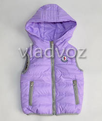 Детская жилетка 2-6 лет 92р-116р. светло фиолетовый
