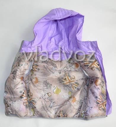Детская жилетка 4-5 лет 110р. светло фиолетовый, фото 2