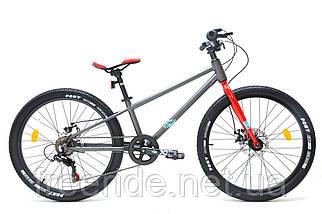 """Підлітковий Велосипед Crosser Super Light 24"""" (11) 6S сірий"""