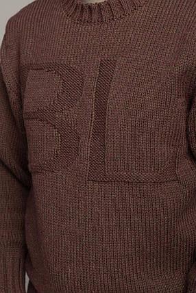 Зимний мужской шерстяной свитер Антонио Берта Луччо цвета Мокко Италия размеры  L-XL, 2XL, 3XL, фото 2