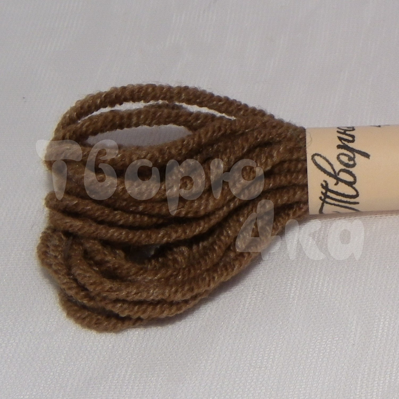 Нить декоративная хлопковая 1,5 мм коричневая