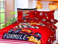 """Детское постельное бельё полуторное  Le Vele сатин """"Formula Red"""""""