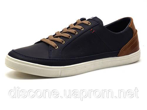 Туфли мужские спортивные нубук H.Denim, синие