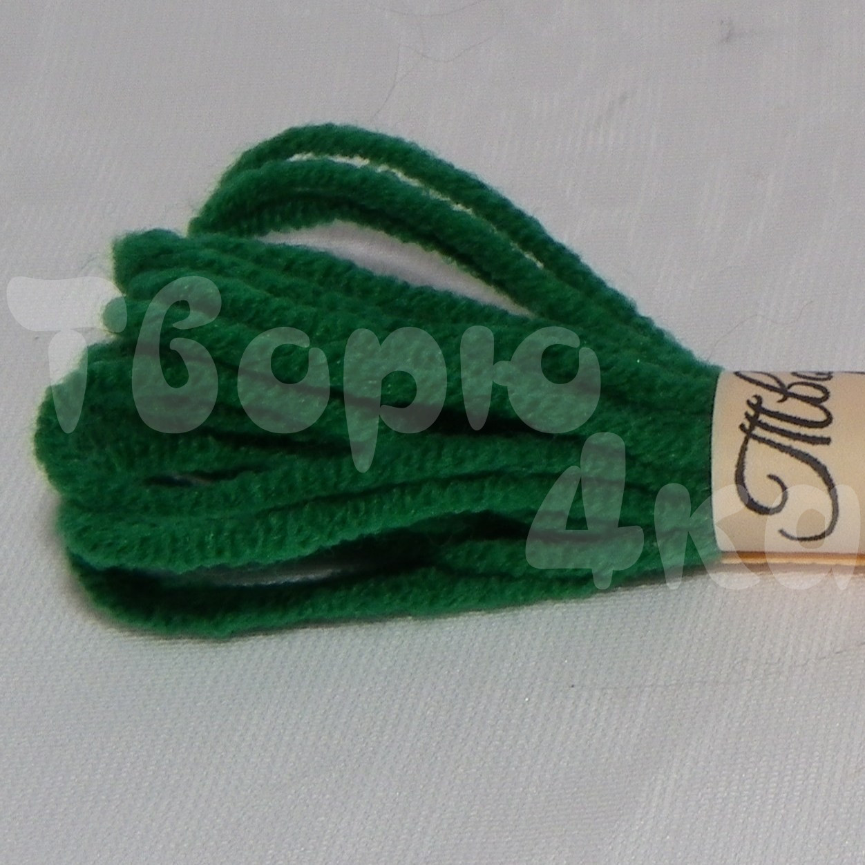 Нить декоративная хлопковая 1,5 мм зеленая