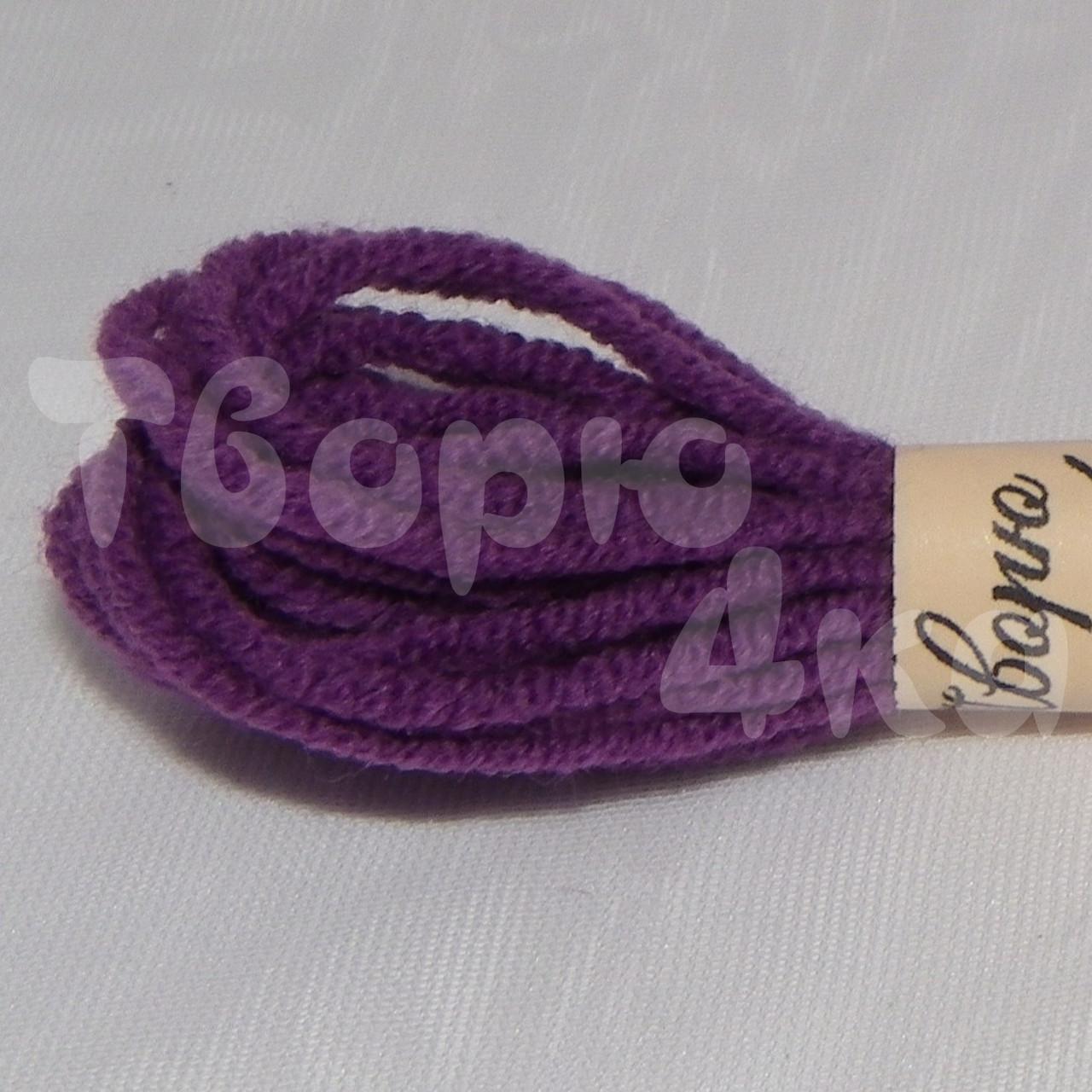 Нить декоративная хлопковая 1,5 мм фиолетовая