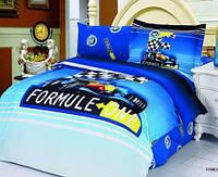 """Детское постельное бельё полуторное  Le Vele сатин """"Formula blue"""""""