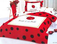 Детское постельное бельё полуторное Le Vele сатин Lady Bug