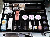 Набор для наращивания ногтей в чемодане (yl) nnn-00, стартовый набор для наращивания yre
