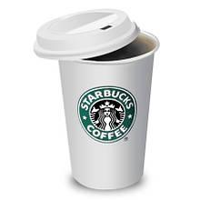 Керамический стакан (чашка) Starbucks Белый