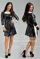 Платье Вирджиния из экокожи Чёрный