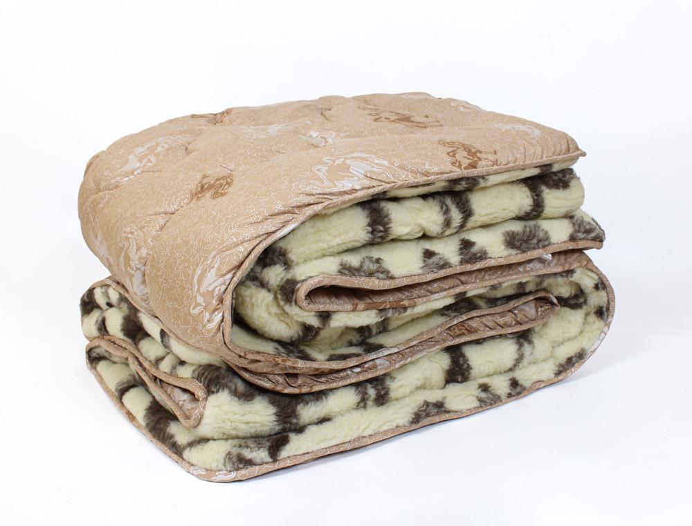 Полуторна ковдру-плед Черешенка™ верблюжа шерсть №42001