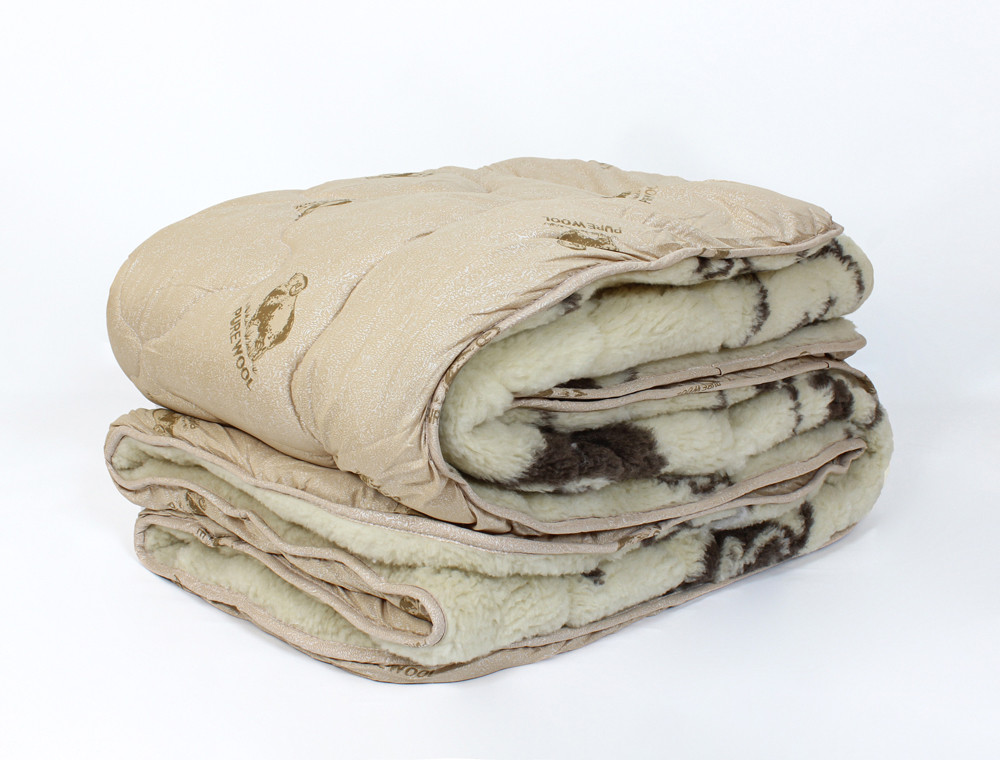 Евро одеяло-плед Черешенка™ шерсть мериноса №42006