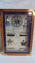 Ключниця настінна дерев'яна «Маяк» розмір 30*20*8