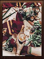 Картина по номерам цифрам на холсте На кофе в Хогвартс Размер 40х50 Гарри Поттер живопись по номерам