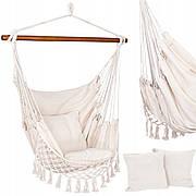 Крісло-гамак сидячий (бразильський) з подушками Springos 130 x 100 см HM022