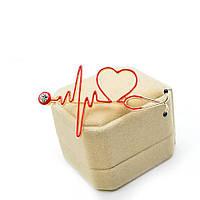 Тематична медична брошка Кардіограма, фото 1